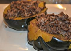 Slow Cooker Stuffed Acorn Squash - Dump and Go Dinner