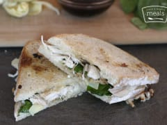 Cheesy Chicken and Artichoke Panini - Lunch Version