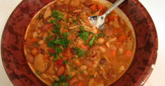 Slow Cooker 15 Bean Soup with Pork - Ready to Eat Dinner