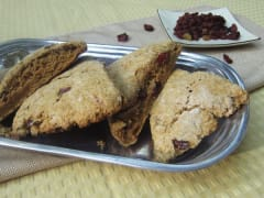 Healthy Pumpkin Cranberry Scones