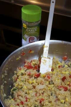 Fresh Veggie Quinoa Skillet - Lunch Version