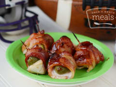 Bacon Wrapped BBQ Jalapeno Popper Bites