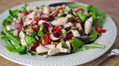 Better Than the Freezer Aisle: Lean Cuisine Copycat Cranberry Pecan Chicken Salad Topper - Lunch Version