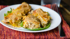Instant Pot Chicken Enchiladas with Pumpkin Cream Sauce