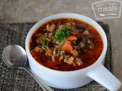 Wild Rice Soup with Sausage and Vegetables - Lunch Version
