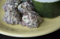 Fresh from the Garden Zucchini Meatballs - Lunch Version
