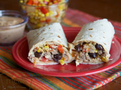 Quinoa Burritos with Creamy Chipotle Sauce - Lunch Version