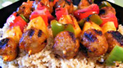 Sweet and Sour Meatball Skewers - Dump and Go Dinner