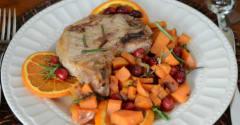 Instant Pot Cranberry Maple Orange Pork Chops - Lunch