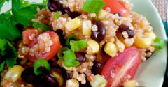 Gluten Free Dairy Free Santa Fe-Style Quinoa Salad- Lunch Version