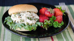 Slow Cooker Chicken Caesar Sandwich - Gluten Free Dairy Free - Ready to Eat Dinner