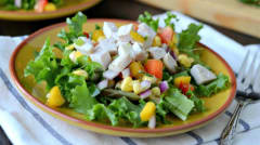 Gluten Free Dairy Free Chicken and Mango Salad Topper - Lunch Version