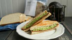 Vegetarian Bacon Avocado Melt - Lunch Version