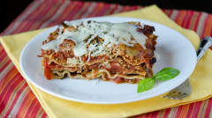 Instant Pot Meaty Mediterranean Lasagna - Dump and Go Dinner