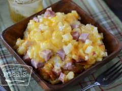 Instant Pot Cheesy Potatoes and Ham - Ready to Eat Dinner