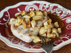 Gluten Free Dairy Free Pork Chops and Apples