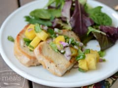 Healthier Pork Chops with Pineapple Salsa - Ready to Eat Dinner