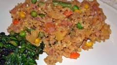 Instant Pot Ham and Pineapple Fried Rice - Ready to Eat Dinner