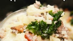 Crock Pot Low Carb Zuppa Toscana Soup- Lunch Version