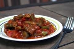 Vegan Tomato Bhindi