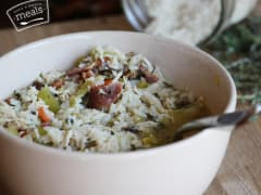 Gluten Free Dairy Free Chicken and Wild Rice Soup - Lunch Version