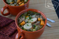 Slow Cooker Turkey Vegetable Soup- Dinner Easy Assembly Version