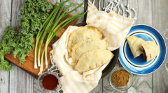 Vegan Sweet Potato and Black Bean Empanadas- Lunch Version