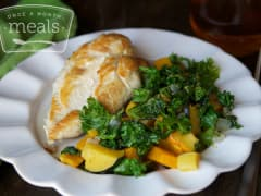 Spiced Chicken, Kale, and Roasted Squash