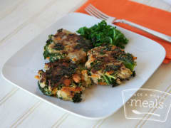 Paleo Turkey and Sweet Potato Patties - Lunch Version