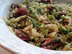 Bacon and Brussels Sprouts Orzo Ready to Eat Dinner