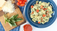 Nut Free Pesto Pasta Salad - Lunch Version