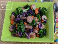 Chicken Sausage Stir Fry - Lunch Version