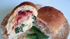 Ham and Mozzarella Stromboli - Lunch Version