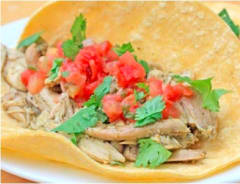Gluten Free Dairy Free Slow Cooker Chicken Taco Filling - Ready to Eat Dinner