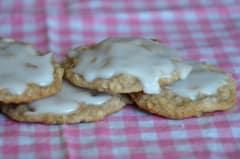 Homemade Iced Oatmeal Cookies