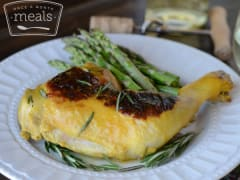 Pan Seared Rosemary Apricot Chicken - Dump and Go Dinner