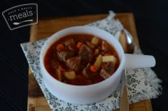 Slow Cooker Hearty Beef Stew - Lunch