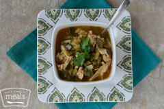 Skinny Chicken Poblano Soup - Lunch Version