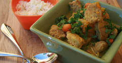Slow Cooker Curried Pork and Fall Vegetable Stew - Ready to Eat Dinner