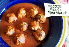 Veggie Loaded Meatballs - Lunch