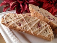 Gluten Free Dairy Free Cranberry and Pecan Biscotti