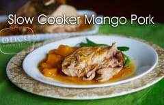 Slow Cooker Mango Pork - Dump and Go Dinner