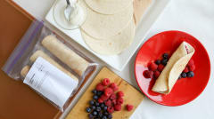Fruity Breakfast Burritos