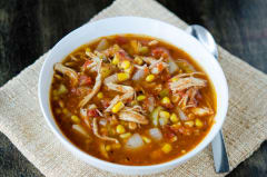 Slow Cooker Chicken Fiesta Soup - Lunch