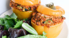 Instant Pot Chorizo Stuffed Peppers - Ready to Eat Dinner