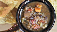 Instant Pot Black Bean Quinoa Stew - Dump and Go Dinner