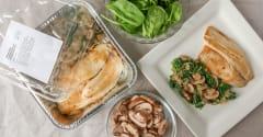 Tilapia with Lemony Spinach and Mushrooms