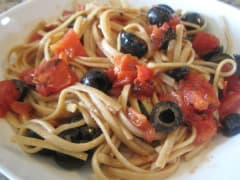 Chilled Spaghetti Salad - Lunch Version