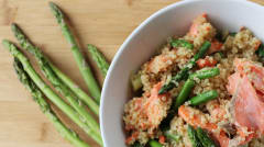 Low Histamine Springtime Salmon, Asparagus, Quinoa Salad - Lunch Version