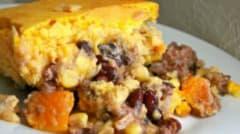 Instant Pot Pumpkin Black Bean Tamale Bake - Ready to Eat Dinner